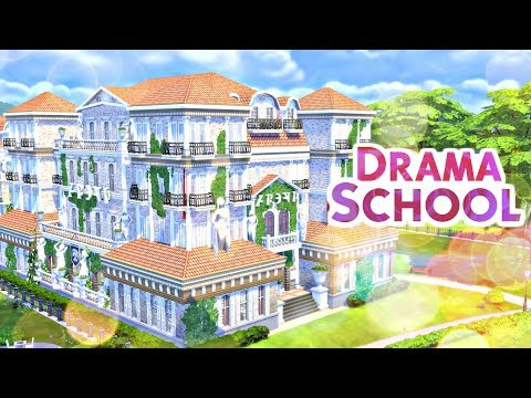 DRAMA SCHOOL | Sims 4 Speed Build