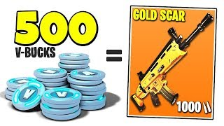 500 V-BUCKS for a GOLD SCAR in FORTNITE?!! | Chaos