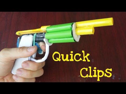 Quick Clips: Paper revolver gun shoots 6 Paper Bullets