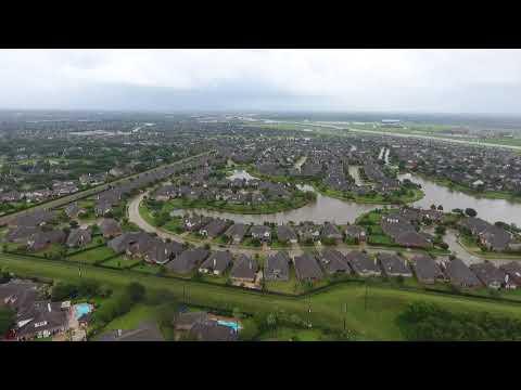 #HurricaneHarvey Sugar Land, Brazos River fly by.