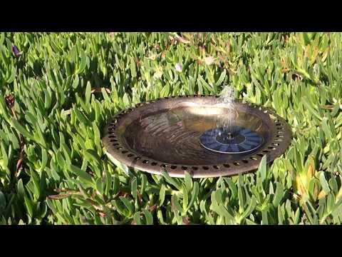 Solar Powered Bird Bath Fountain Pump Hiluckey