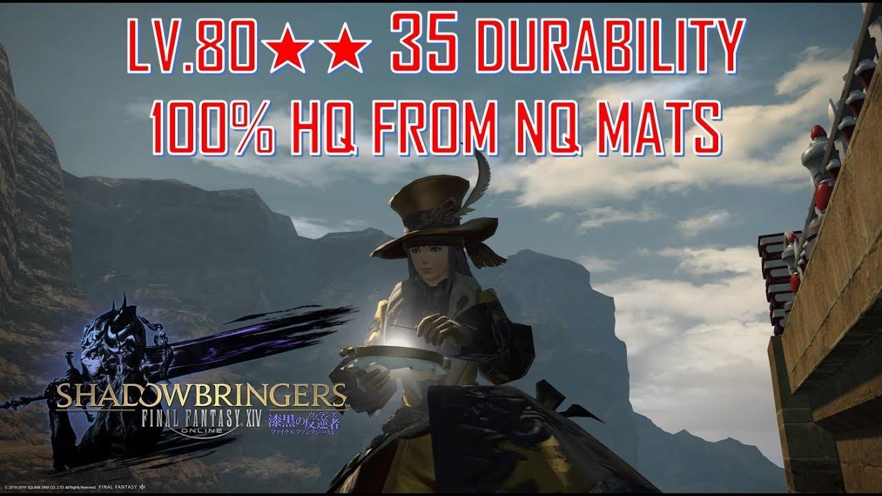 Final Fantasy XIV: SB - LV 70 80 Dur & 68 40 Dur HQ Macros