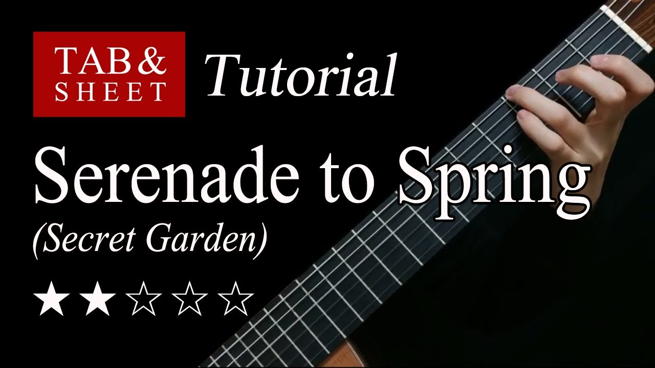 Serenade to Spring - Guitar Lesson + TAB