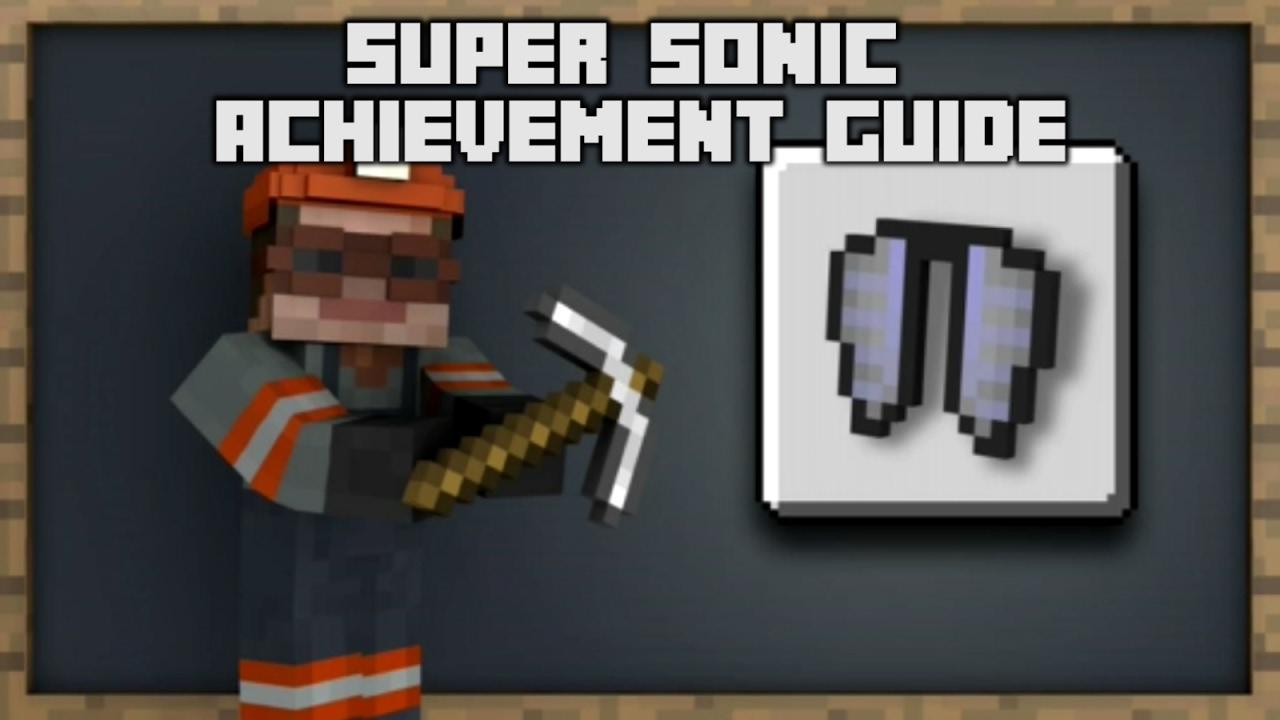 Minecraft   Super Sonic Achievement Guide