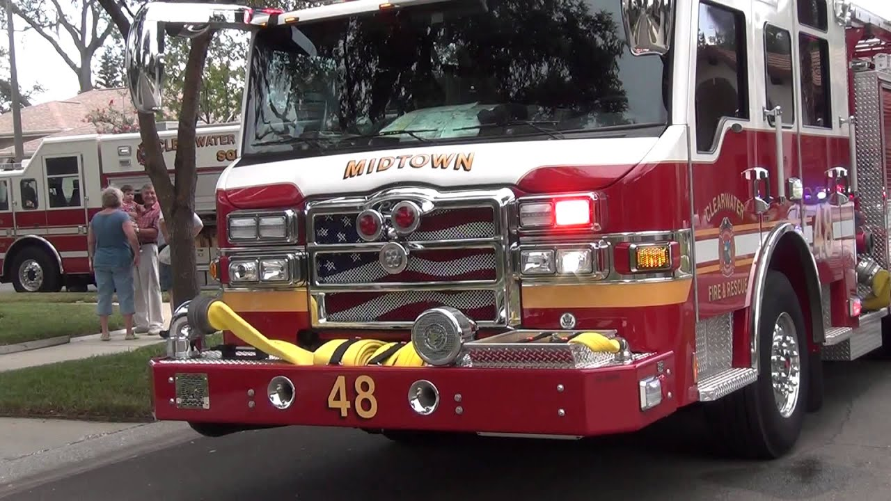 CLEARWATER FIRE RESCUE MIDTOWN 48 WITH ROTO RAY ON FRONT NICE PIERCE
