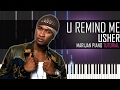 How To Play: Usher - U Remind Me | Piano Tutorial