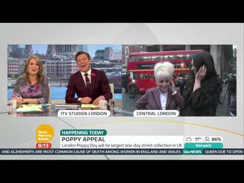Barbara Windsor And Lacey Turner On The Poppy Appeal   Good Morning Britain