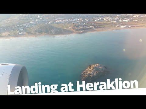 Landing at Nikos Kazantzakis Airport - A320 Airbus - Aegean Airlines