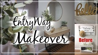 Entryway Makeover | Shop & Decorate With Me | Momma From Scratch