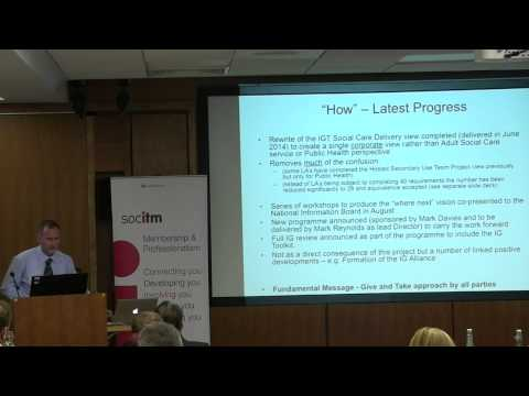 London Health & Social Care Summit: Information Governance Toolkit - Ralph McNally
