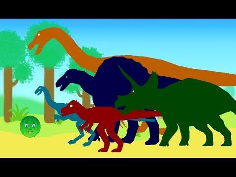 Веселые Динозаврики и Арбузик. Динозавры Мультфильм про динозавров на русском для детей