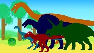 Веселые Динозаврики и Колобок - Арбузик. Мультик про динозавров на русском языке
