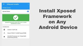 Download video How to install xposed framework on android 9