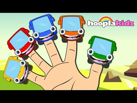 Learn Colors with Wheels on the Bus Finger Family Song | Nur