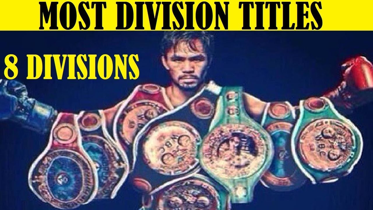 Manny Pacquiao, only eight-division champion in boxing history ...