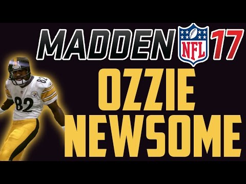 92 OVERALL OZZIE NEWSOME GAMEPLAY AND REVIEW - MADDEN ULTIMATE TEAM 17