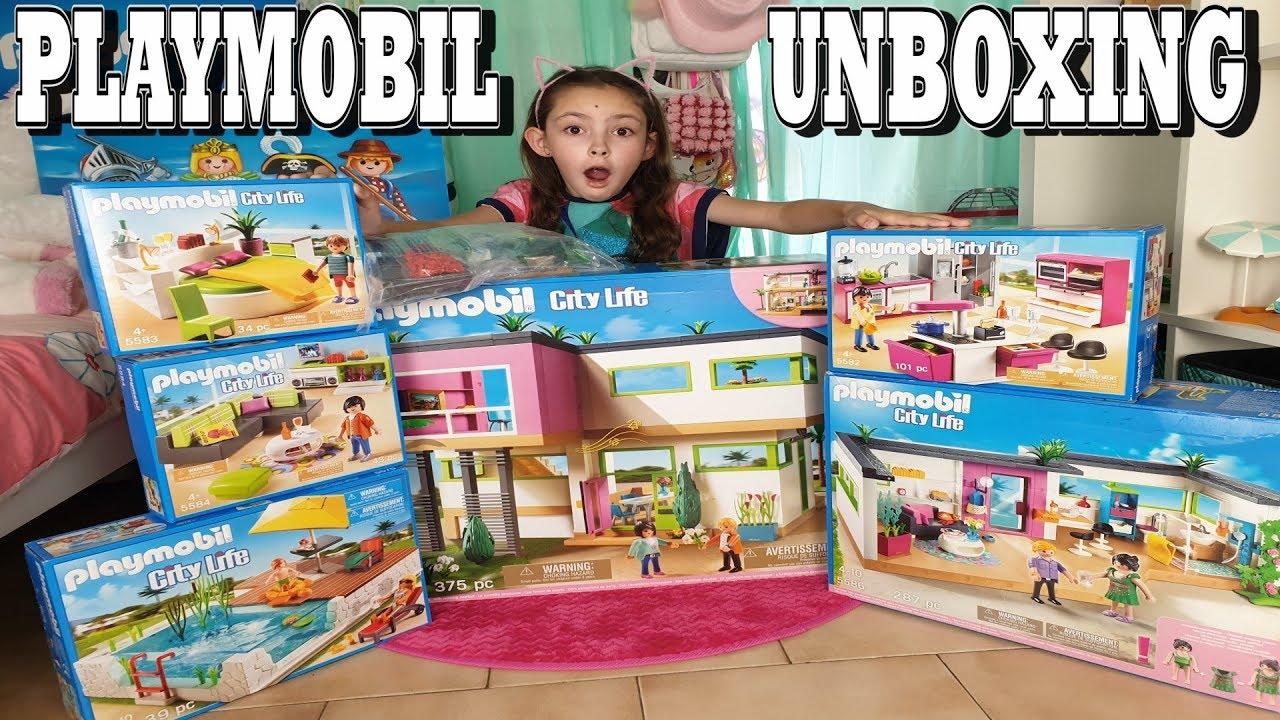 Playmobil Unboxing La Maison Moderne Villa De Luxe 5574 Youtube