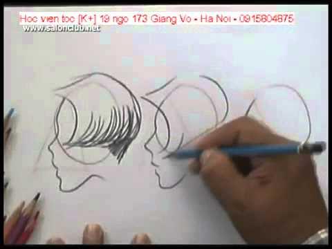 dạy vẽ sáng tác kiểu tóc đẹp bằng bút chì   giáo trình Korigami 0915804875