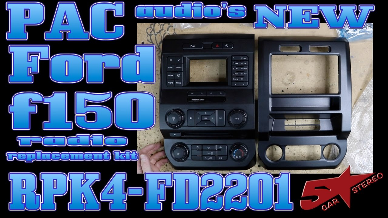 PAC audio's new Ford F150 dash kit the RPK4 FD2201 - YouTube