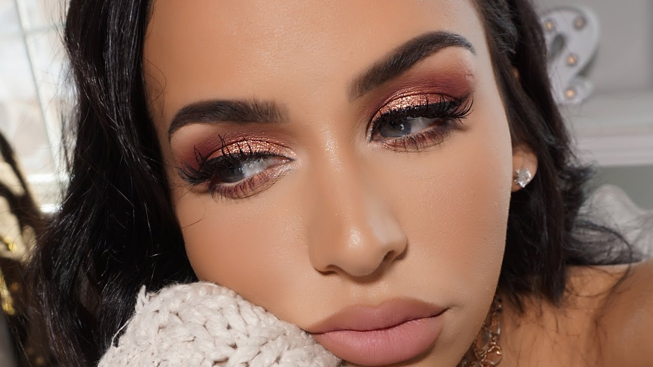 Pinky Peach Glam Spring Makeup Tutorial Youtube