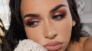 PINKY PEACH GLAM | SPRING MAKEUP TUTORIAL