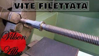Costruzione Vite Filettata Di Ricambio Per Avanzamento Tornio | Turning Spare Part For Lathe