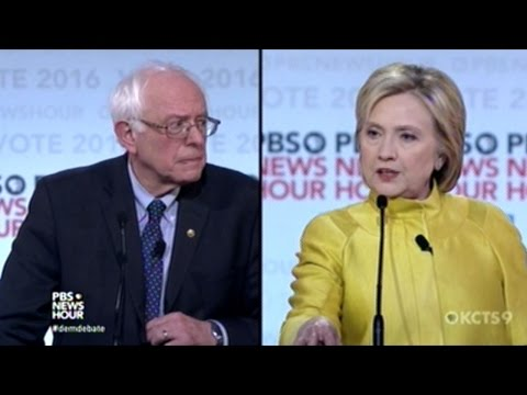 BERNIE SANDERS vs HILLARY CLINTON DEMOCRATIC PRESIDENTIAL DEBATE IN MILWAUKEE WISCONSIN