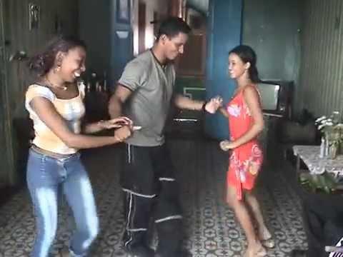 Yanek Revilla Dancing With Two Women in Santiago de Cuba