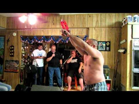 Drunk Guy Dancing in His Underwear While Folks Sing Karaoke - 5/26/12