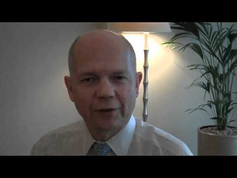 William Hague British Foreign Secretary
