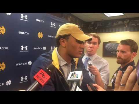 Notre Dame QB DeShone Kizer reflects on loss to Duke and 1-3 start