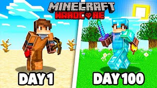 I Spent 100 Days in ULTRA HARDCORE MINECRAFT... This is what happened.