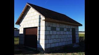 видео Строительство гаража из пеноблоков