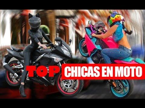 TOP 10 Mujeres hermosas en moto / NIVEL XPERTO