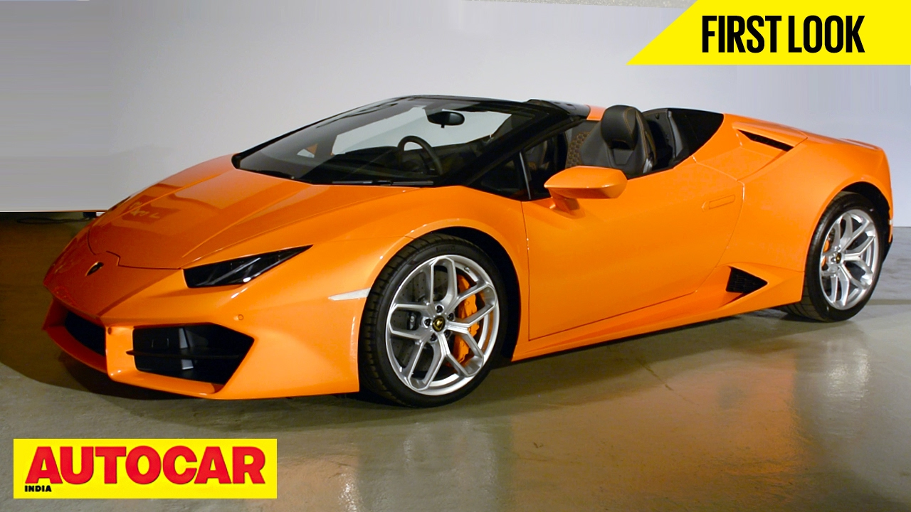 lamborghini huracan rwd spyder first look autocar india youtube. Black Bedroom Furniture Sets. Home Design Ideas