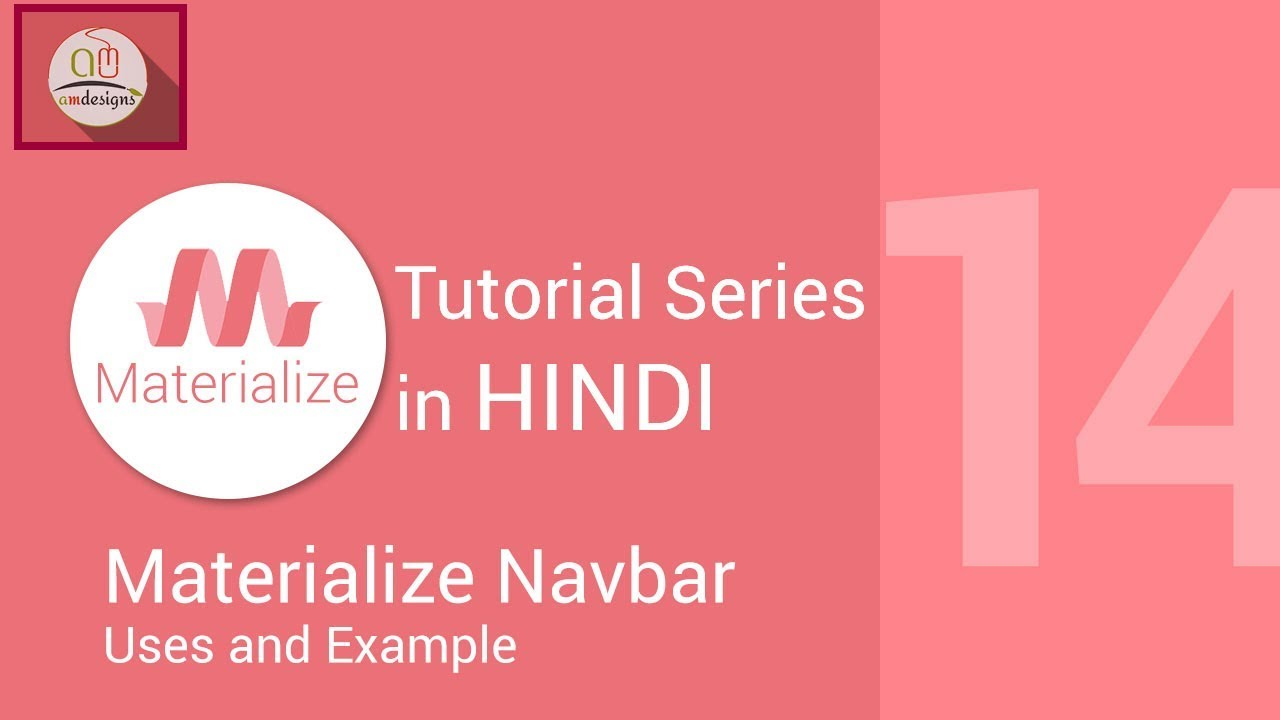 Materialize css tutorial in hindi - Navbar, Dropdown, Hoverable