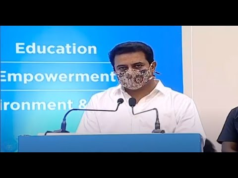 Minister Sri KTR spoke at the inaugural ceremony of Welspun Flooring Ltd at Chandanvelly