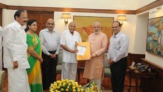 EENADU Group Chairman Ramoji Rao Meets Prime Minister Modi