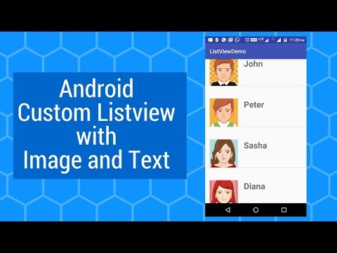 Custom Listview in Android Studio with Image and Text