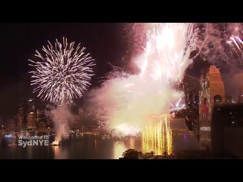 Welcome to 2016! Sydney New Year's Eve Fireworks