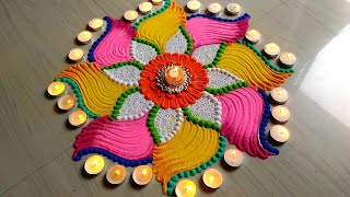 Beautiful Rangoli for Diwali/lakshmi pada FESTIVAL'S rangoli designs 2018-19