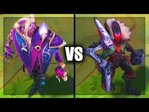 Dark Cosmic Jhin vs PROJECT Jhin Legendary vs Epic Skins Comparison (League of Legends)