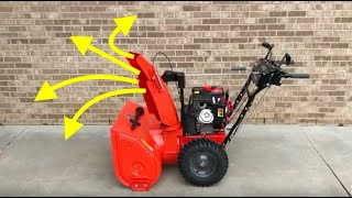 How to adjust/tighten snow blower Discharge Chute Deflector lever!