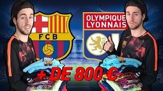 PRÉSENTATION DE TOUT MES MAILLOTS DE FOOT D'UNE VALEUR DE + DE 800 EUROS !!