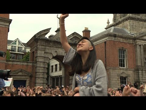 "Yes voters ""elated"" at Irish referendum result"
