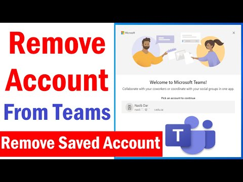 How To Remove Teams Account from Computer | Remove Account From Teams app windows 10 | #MSTeams