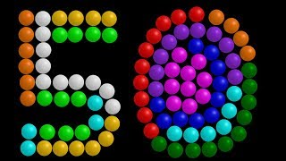 Color Ball Counting - 1-50 - The Kids' Picture Show (Fun & Educational Learning Video)
