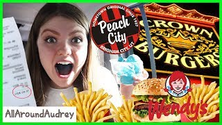 Letting The Person In Front Decide What I Eat - I Finally Got A Drink! / AllAroundAudrey