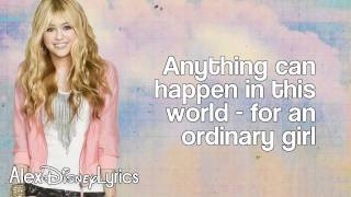 Baixar - Hannah Montana Ordinary Girl Lyrics On Screen Hd Grátis