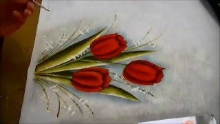 COMO PINTAR TULIPAS – HOW TO PAINT TULIPS – parte 3 de 3
